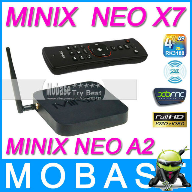 [MINIX NEO A2 Air Mouse] MINIX NEO X7 Android 4.2.2 Quad Core TV Box Mini PC 1.6GHz 2G/16G WiFi HDMI USB RJ45 OTG XBMC Smart TV