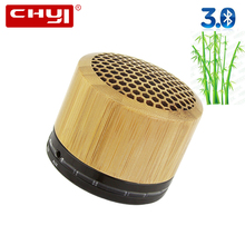 CHYI Wireless Mini Wooden Bluetooth Speaker 3D Stereo subwoofer multi-audio Bamboo Portable Sound Box Super Bass Hifi with Mic
