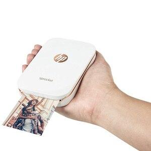 Image 4 - 미니 포켓 포토 프린터 휴대 전화 블루투스 휴대용 프린터 미니 홈 스프로킷 hp zink 포토 용지 인쇄 잉크 없음
