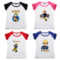 2017 новая мода летний стиль детская одежда хлопок летом Пожарный Сэм Футболки мальчик девочка детская одежда