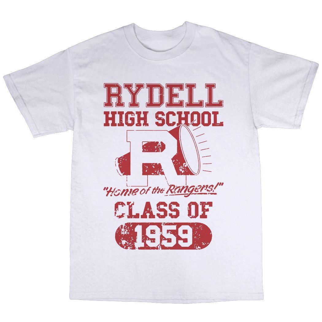 Rydell High School 1959 T-Shirt 100% Premium Cotton Inspired By Grease