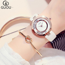 GUOU Wrist Watch Luxury Glitter Diamond Ladies Watch Women Watches Fashion Women's Watches Clock montre femme