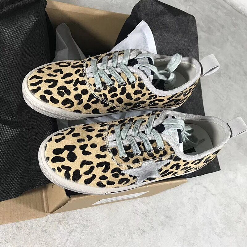 Fashion Horsehair Leopard Women Casual Shoes Old Style Lace Up Dirty Shoes Round Toe Lace Up Women Casual Shoes tenis feminino casual bowknot lace up jazz hat
