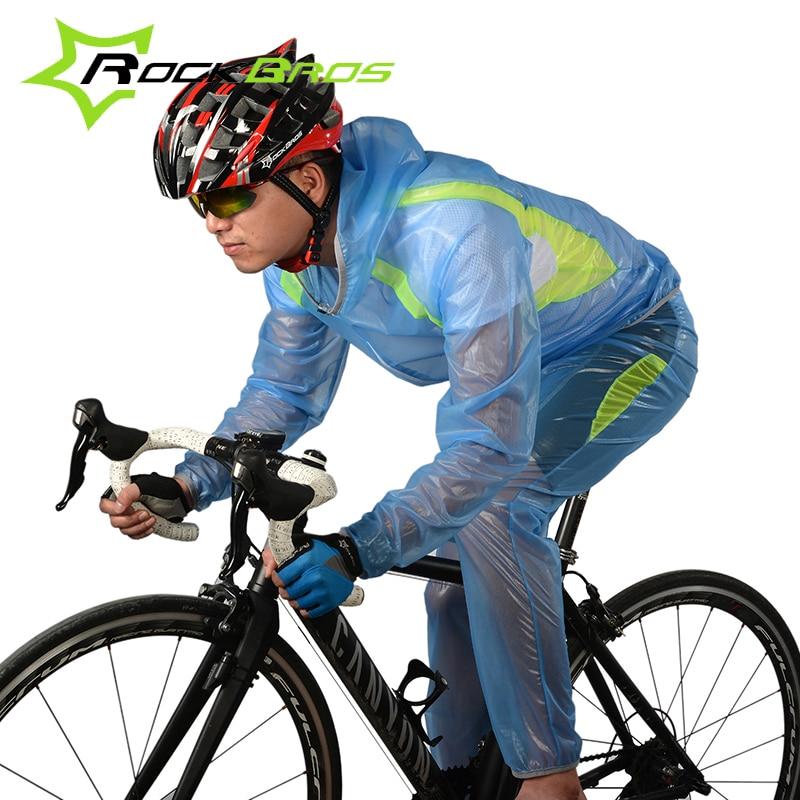 все цены на Rockbros 2018 Cycling Jersey Men Long Sleeve Bicycle Sets Waterproof Windproof Cycling Clothing Bike Raincoat Kits Ropa Ciclismo онлайн