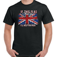 If This Flag Offends You Mens Union Jack T Shirt Immigration Rugby Football Top Hip Hop Funny Tee,Summer O Neck Tee