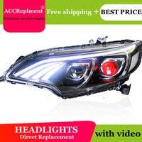 Auto Lighting Стиль светодиодный фара для Honda fit фары 2014 2017 fit светодиодный угол глаза H7 hid Q5 биксеноновая объектив ближнего света