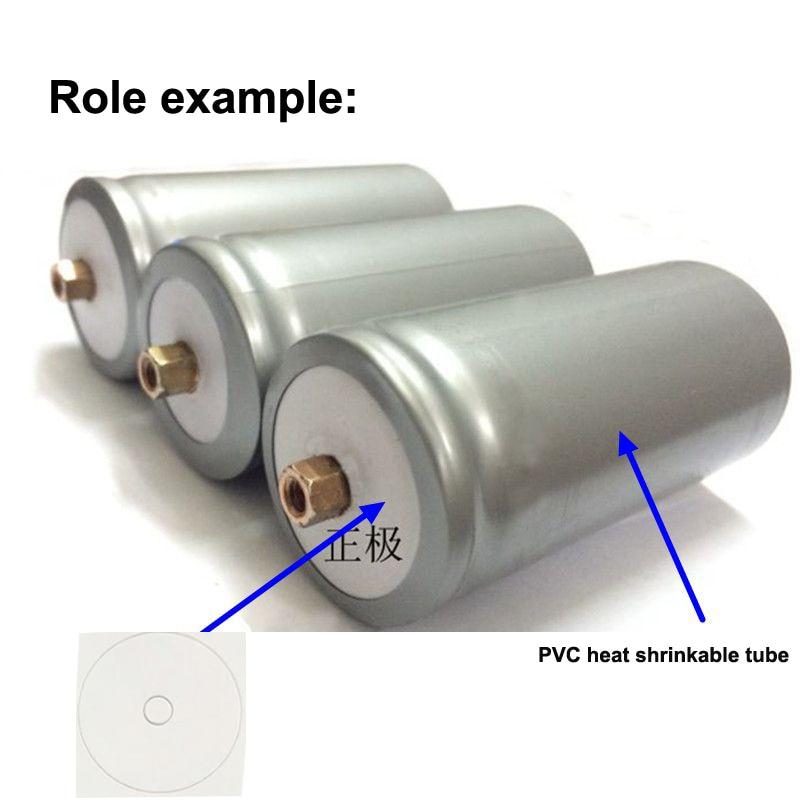 Купить с кэшбэком 100pcs/lot 32650 Lithium Battery Positive Hollow Tip Insulation Gasket Lithium Iron Phosphate Battery Hollow Surface Pad Main