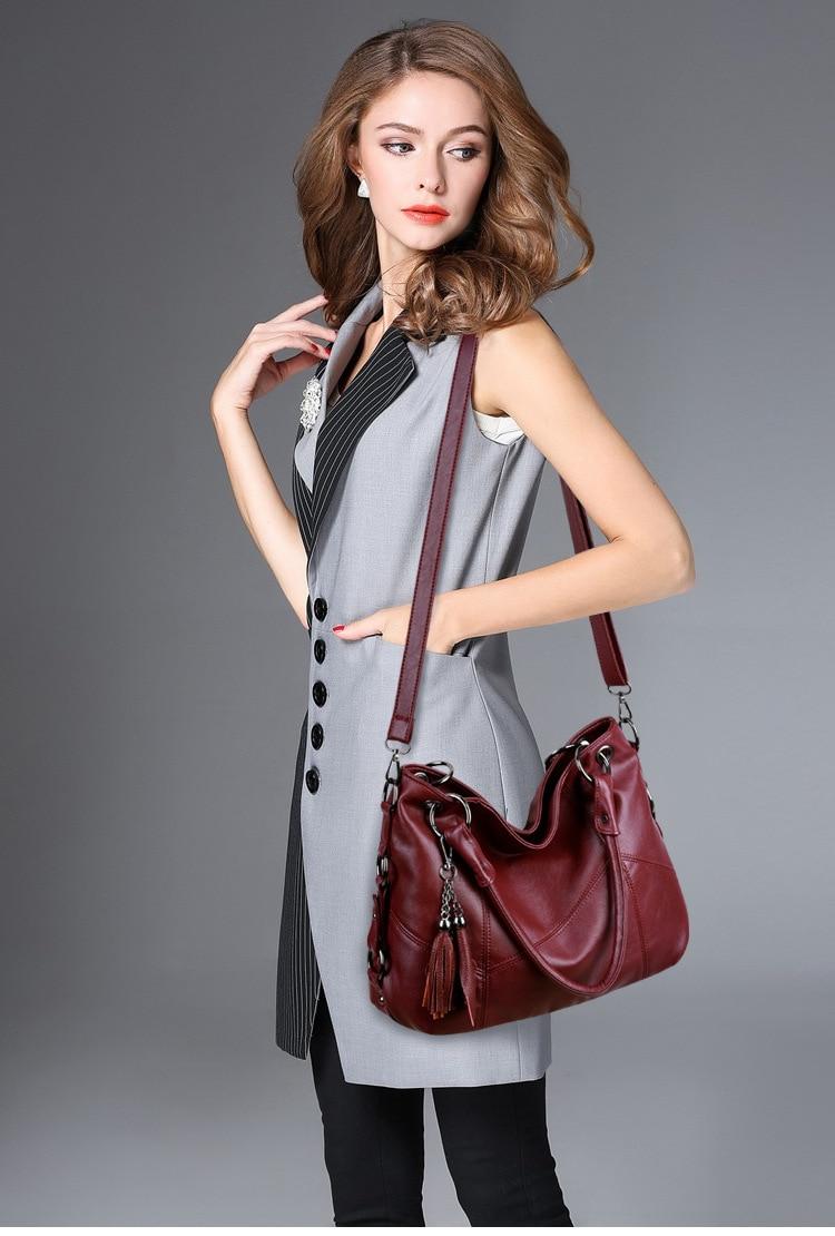 De Couro Das Mulheres Elegantes Bolsas De