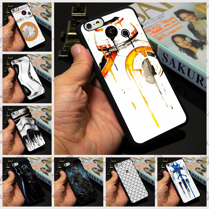 Star Wars Darth Sidious RD2 Luke Skywalker Han Solo Stormtroopers Case Cover for iphone 7 4 4s 5 5s 6 6 plus