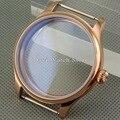 Часы Parnis 44 мм с корпусом из розового золота  подходят для eta 6497 6498 чайки st36  мужские часы