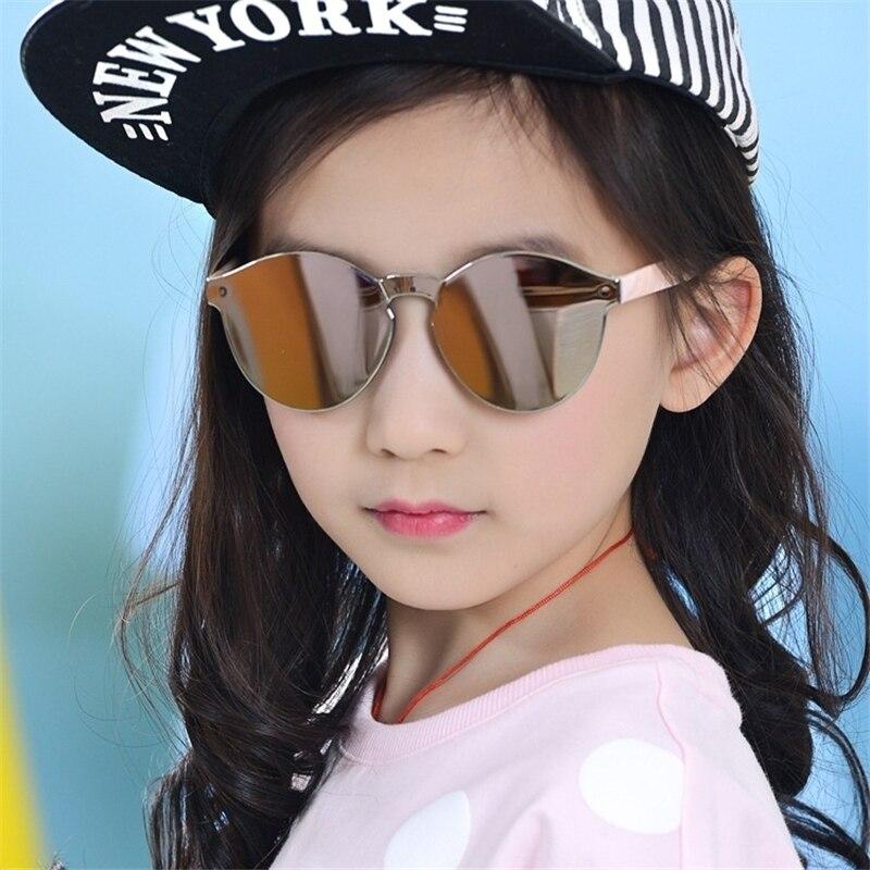 Fashion Baby Boys Girls Kids Sunglasses Vintage Round Sun Glasses Children Arrow Glass 100%UV Protection Oculos De  3-13 Years