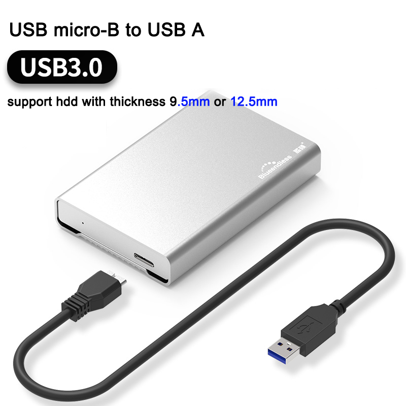 2.5'' Hdd Enclosure Sata High Speed Type C 3.1 / USB Micro-B 3.0 To Sata Hdd Cases Full Aluminum Notebook Hard Drive Caddys