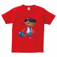 2018 New Doc Mcstuffins kids t-shirts for girls cartoon children clothing girls clothes baby short sleeve t shirt cotton casual цена
