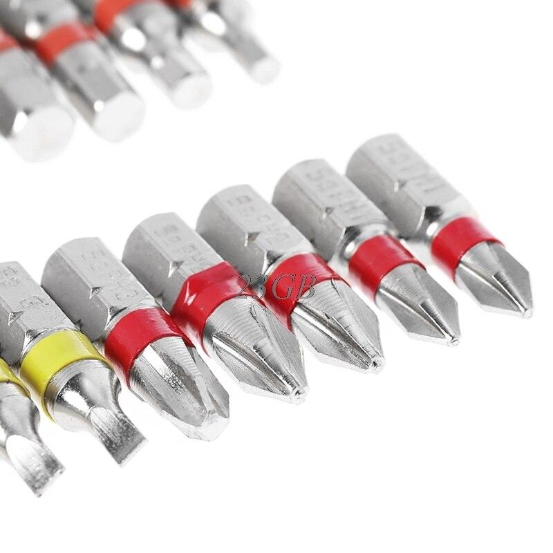 Torx Flat Hex Screwdriver Bit Set PH Head Color Coded with Magnetic Holder 20PCS/SET M05