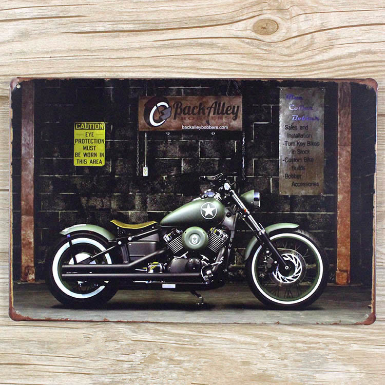 20x30 cm high quality new 2015 motorcycle tin painting metal plaque vintage bar iron painting. Black Bedroom Furniture Sets. Home Design Ideas