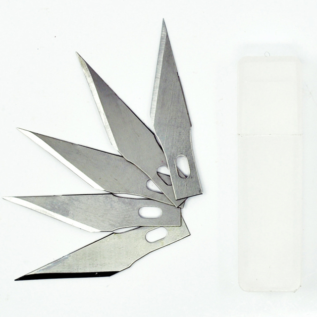 Engraving Craft Sculpture Knife Scalpel Cutting Tool PCB Repair 10 pcs Blades for Wood Carving Tools