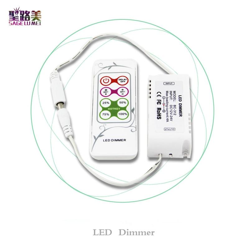 BC-312-4A DIY modes LED PWM Dimmer DC 12V-24V 4A Brightness adjustment Led Dimmer RF Remote For SMD 5050 LED Strip Light Ribbon d74ha0 4a is a d74ha0 4a c d74ha0 4a b d all new drive strip module