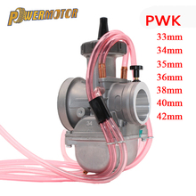 Купить с кэшбэком PowerMotor Motorcycle Carburetor 4T engine 42 33 35 36 38 40 34mm carburetor PWK Carburetor Used at Off-Road Motor