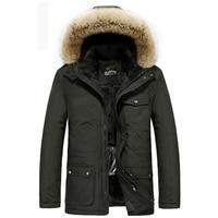Brand AFS JEEP Winter Jacket Men Intelligent Smart Heating Temperature Controllable Fleece Parka Men 40 Degree Russia Coats