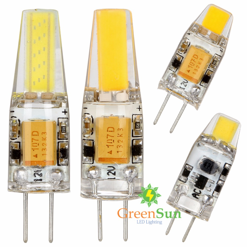 1set Dimmable G4 COB LED Capsule Led Bulb Halogen Replacement Lamps 3W/6W AC/DC 12V-30V g4 led bulb