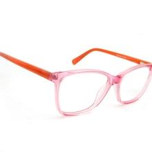 184927bbf إمرأة واضح نظارات شفافة الوردي المألوف إطارات نظارات طبية خلات قصر النظر  نظارات إطار النساء مربع Oculos دي غراو