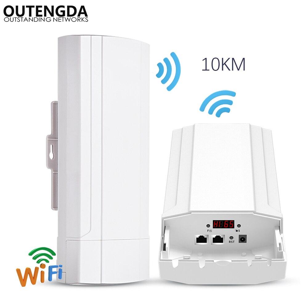 900 Mbps 5G extérieur CPE routeur PTP 10 KM portée Wi-fi Point d'accès WDS sans fil Wifi pont Extender Wifi répéteur pour caméra IP