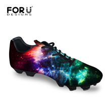 FORUDESIGNS New arrival Adult Lace-up Flat Casual Shoe Men Futebol Shoe Breathable Chaussures De Foot 3D Printing Chuteiras