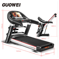 CHISLIM New 5.5HP Fitness Electric Treadmill Exercise Equipment Motorized Treadmill Gym Home Walking Jogging Running Machine