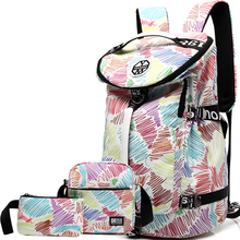 36L travel laptop backpack bagpack women school bags for teenage girls flower printing rugzak back pack kippling womens backpack цена