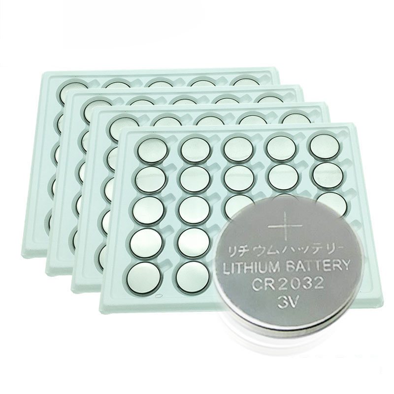 100pcs/Lot CR2032 3V Cell Coin Button Battery Lithium Li-ion DL2032 Battery Watches,clocks, Toys Calculators Free Shipping