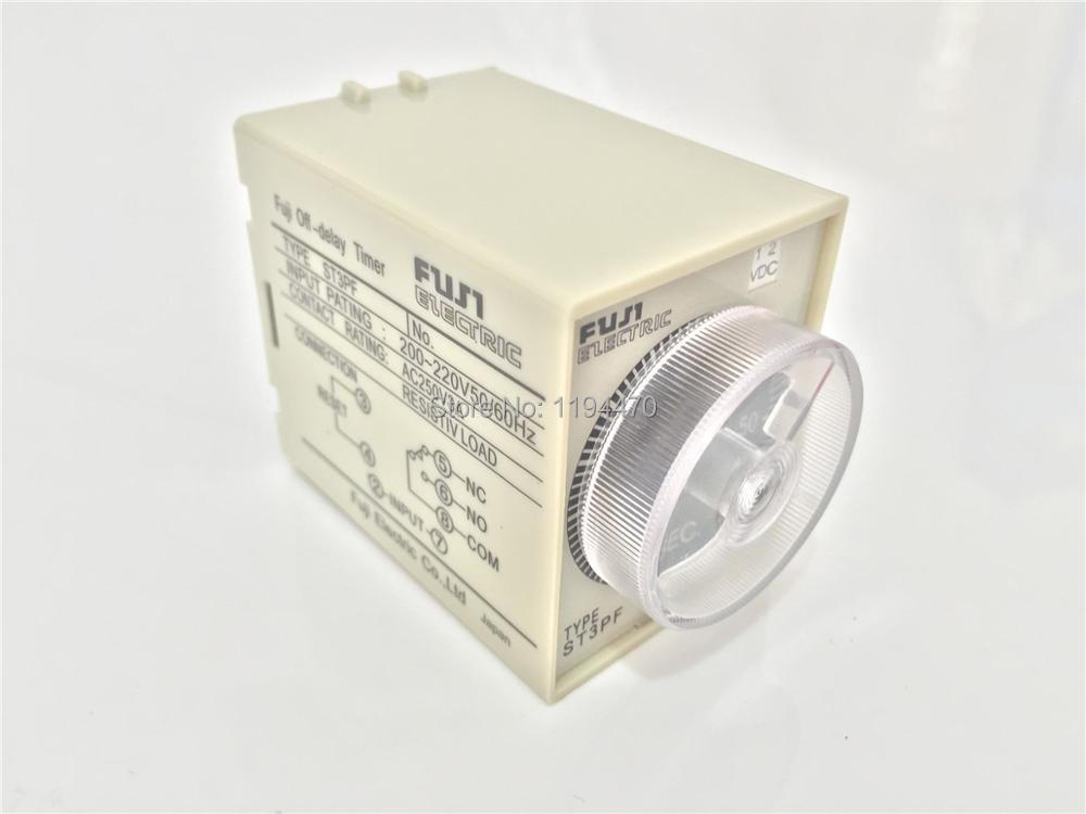220V AC Power Off Delay Timer Time Relay 0-10 Second 10S ST3PF /& Base