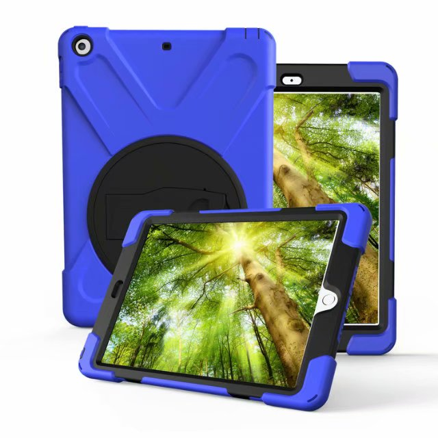 TODKAI Case For Apple iPad 9.7 inch 2018 New model A1893 Kids Safe Shockproof Armor Soft Silicone+Hard Cover For ipad 9.7 2017