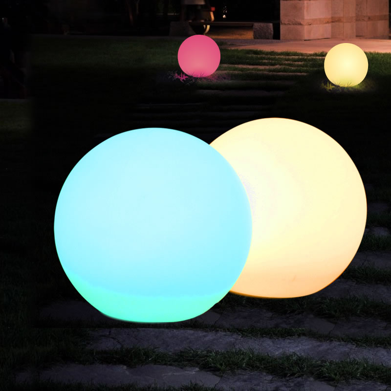 2-Pack 11.8 Solar Waterproof Ball Light 10 Color RGB Switch Control mood Float Light Lamp Floating Globe Lights Outdoor pool 30cm color changing remote control party pool magic waterproof rgb night lighting lamp globe