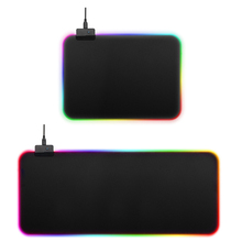 Gaming Mouse Pad RGB LED Lighting 7 Colorful Large Mousepad Mouse Mat Keyboard Pad Non-Slip