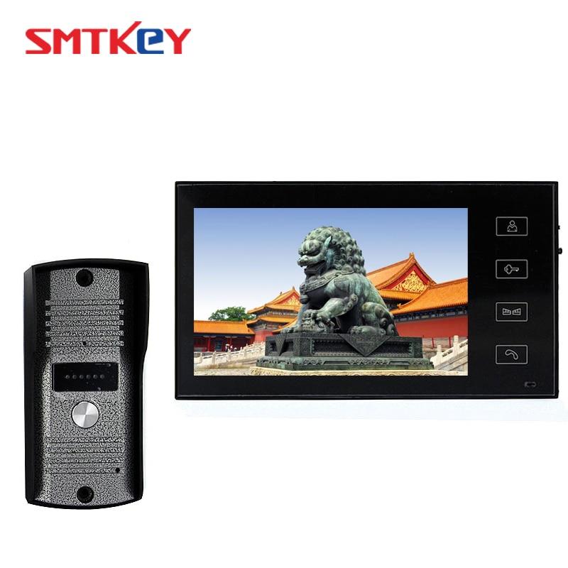7inch Video Door Phone Intercom System With 700TVL Color Camera 7