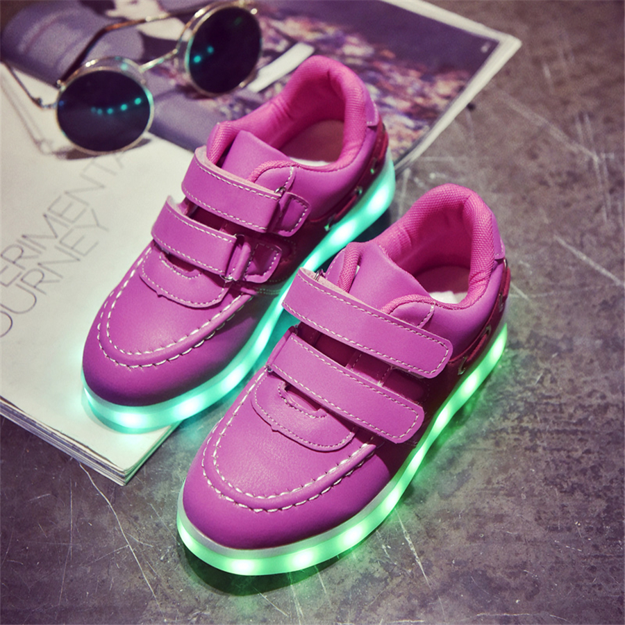 Led Light Shoes For Kids Girls Glowing Sneakers With Luminous Sole Breathable 11 Color Led Party Shoes Led Kids Usb 50Z0012 wholesale cheap lights up led luminous casual shoes high glowing with charge simulation sole for women