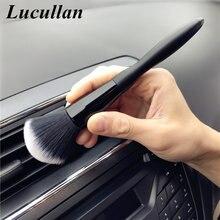 Lucullan escova para limpeza de cabelo, versão alongada 20cm escova de limpeza de cabelo branca super macia interior eletrostática ferramentas para remoção de poeira detalhe de fábrica