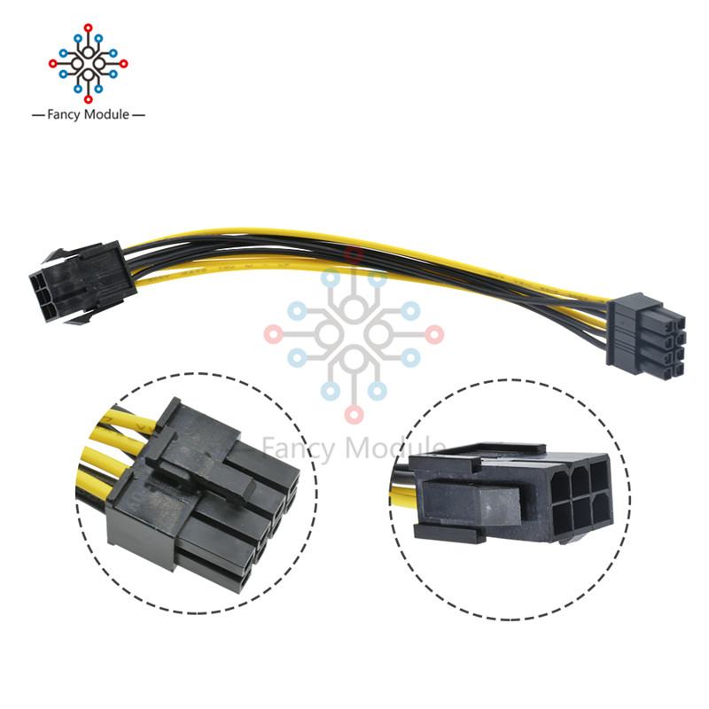 6 Pin Feamle To 8 Pin Male PCI Express Power Converter Cable CPU Video Graphics Card 6Pin To 8Pin PCIE Power Cable Connector