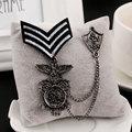 Patches Remendos Militares Airsoft Ternos dos homens Broche, Vintage Broche de Metal, Medalhas de moda masculina, Emblemas de Metal Remendo Militar