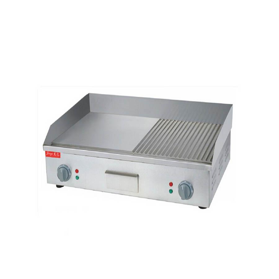 1 PC FY-822A plat en acier inoxydable plaques de cuisson électriques et rainuré plaque de cuisson électrique rainuré casseroles frites électriques 110/220 V