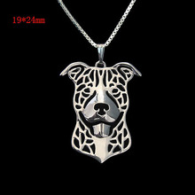 Pitbull pendant Necklace 3D Hollow – Gift For  best dog lover