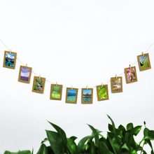 5inch Kraft Wall Hanging Photo Paper Frame Paper Photo Frame Album Craft DIY Home Decoration with Birthday Party Decroation(China)