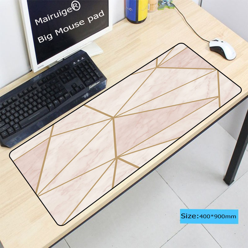 100% Quality Mairuige Waterproof Pink Marble Game Mouse Pad Large Locking Edge Mousepad Office Laptop Notebook Mats For Csgo Dota 2 Lol Convenient To Cook