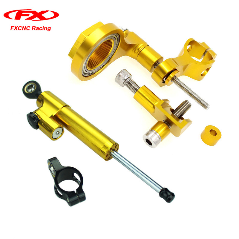 FXCNC for Yamaha YZF R6 2006-2010 2011-2015 Motorcycle Steering Stabilizer Damper Mounting Kits + Brackets Kits Set (for Yamaha) motocross dirt bike enduro off road wheel rim spoke shrouds skins covers for yamaha yzf r6 2005 2006 2007 2008 2009 2010 2011 20