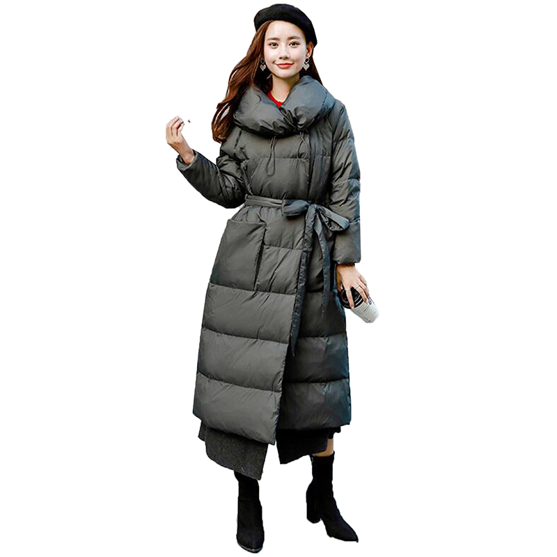 2018 Winter Plus Size   Down   Jacket Women Temperament Slim Long Female Thicken Parka 90% White Duck   Down     Coat   Women's Clothing