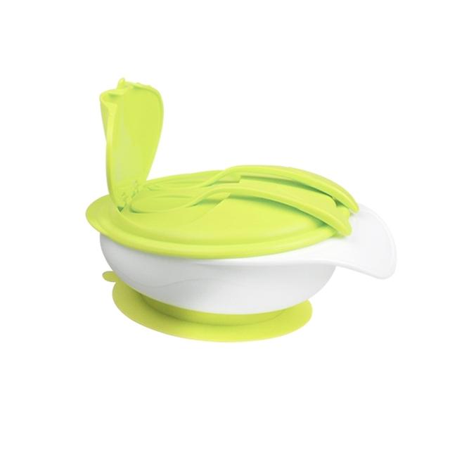 Novo chega de sucção do bebê tigela isolamento térmico super comer tigela aprendizagem tigela pratos prato separado bebê infantil