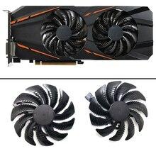 Вентилятор охлаждения для видеокарт Gigabyte GTX 1050 1060 1070 960 RX 470 480 570 580, 10 шт./партия, 4Pin, 88 мм, T129215SU