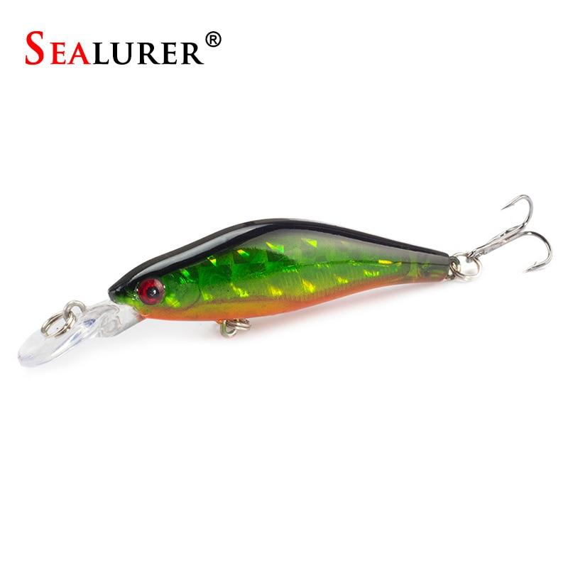Sealurer 1pcs lot fishing lures lures 8cm 6g crankbaits for Bass fishing jerkbaits