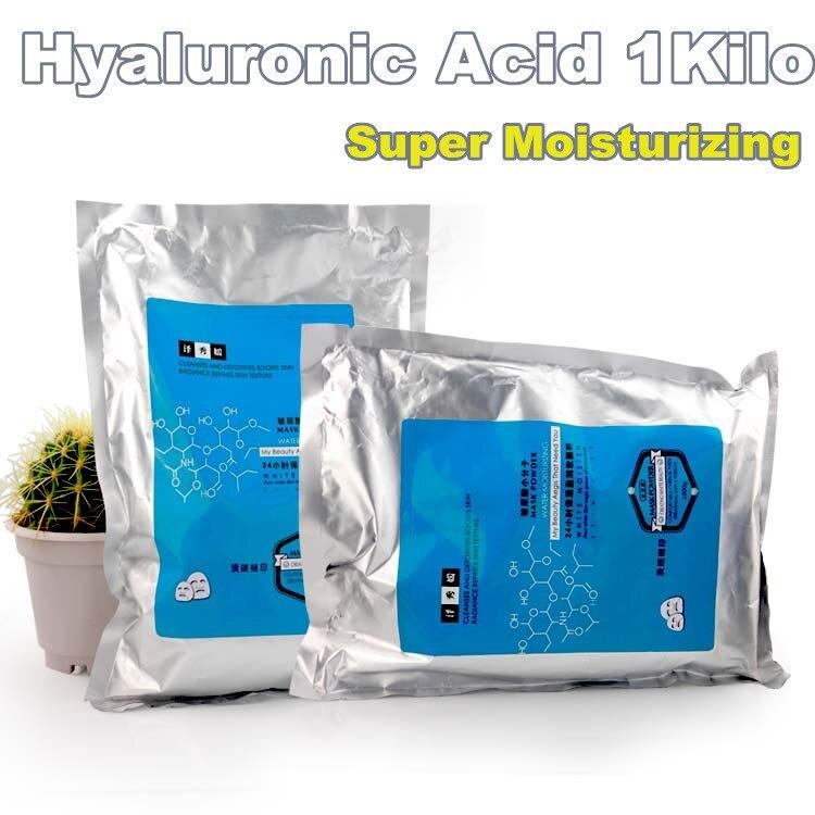 1000 g ácido hialurônico máscara suave pó de plantas naturais extratos de 1 Kg de Super hidratante cuidados com a pele