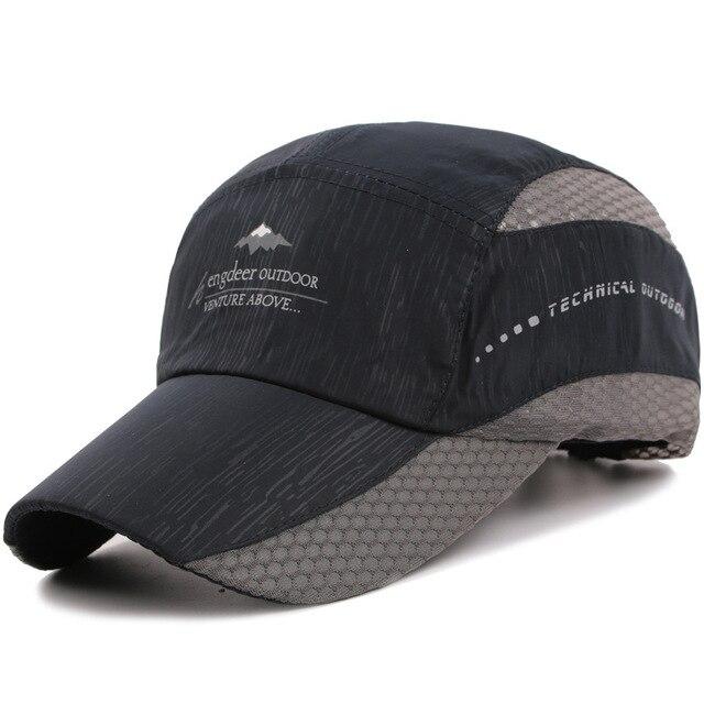 Kioninai 2018 Summer Ourdoor Sports Cap Men Quick-drying Thin Light Breathable Snapback Hat Male Hiking Fishing Basebabll Cap 1